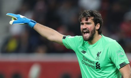 Alisson out for Liverpool's Champions League second leg tie with Atlético Madrid