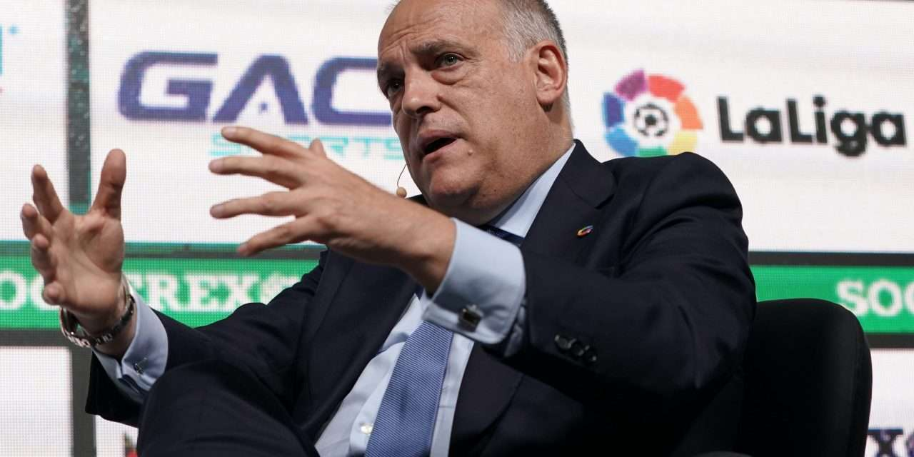 """Javier Tebas: """"La Liga will end perfectly thanks to the suspension of Euro 2020."""""""