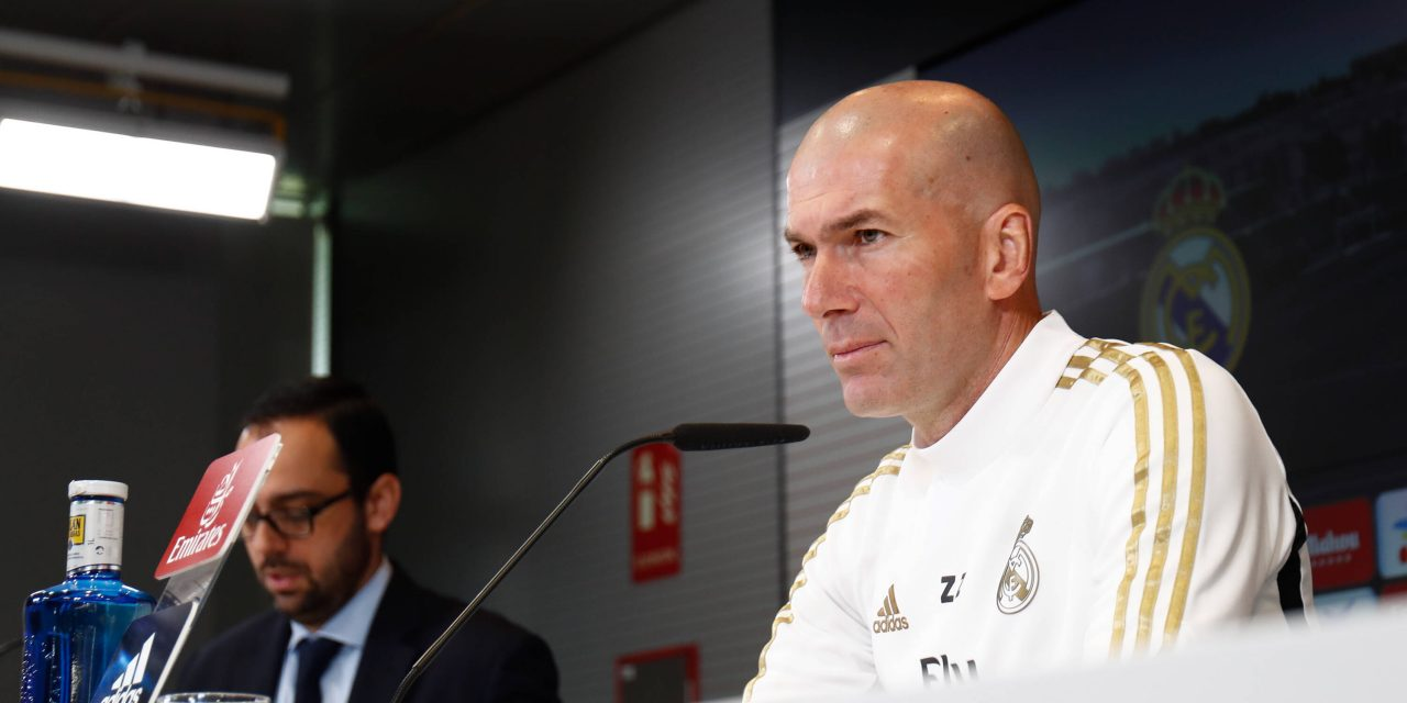 "Zinedine Zidane: ""I like training, but playing is better."""