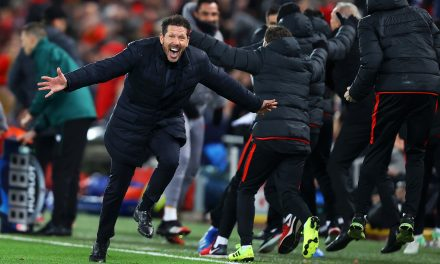"Diego Simeone: ""The win at Anfield was not a question of luck."""